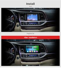 toyota highlander 2015 10 2 inch 2014 2015 2016 toyota highlander android 6 0 capacitive