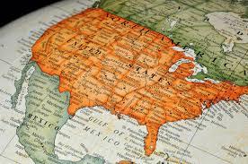 united states globe map globe or map of united states stock image image 12580835