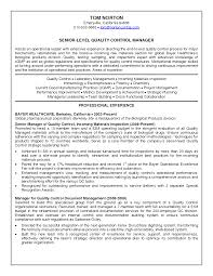 Sample Controller Resume by Quality Control Resume Resume For Your Job Application