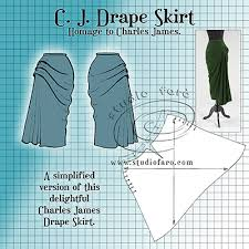 pattern puzzle cj drape skirt