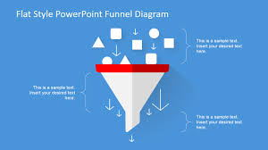 flat design powerpoint funnel diagram slidemodel