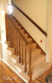 Wooden Stair Banisters How To Make Wood Stairs Treads For Cheap Simply Swider