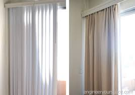 Hang Curtains Higher Than Window by How To Conceal Vertical Blinds With Curtains Smart Diy Solutions