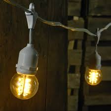 48 foot white wire clear commercial globe drop string lights