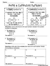 prime numbers and factors worksheet 15 best math prime and composite numbers images on