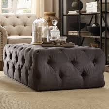 Rectangular Cocktail Ottoman Furniture Beautiful Tufted Cocktail Ottoman For Your Living Room