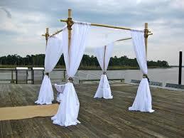 bamboo chuppah dockside wedding arbor chuppah gallery