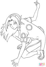 sakura haruno coloring free printable coloring pages