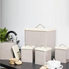 5pcs enamel tea coffee sugar bread bin biscuit storage jar