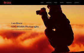 bruce photography free bootstrap template