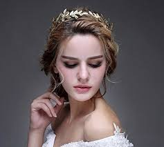 goddess headband bridal headpiece gold leaf tiara goddess headband jewelry