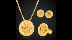 pendant necklace set images 24k gold ethiopian jewelry set designs bride wedding pendant jpg