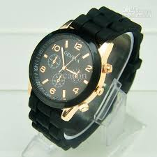 mens rubber bracelet watches images New rose gold style geneva watch rubber candy jelly fashion men jpg