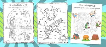 pigs activity book 198 printables kids
