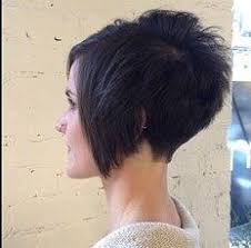 short hairstyles for women showing front and back views super short in back long in front but a little longer in the