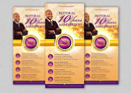 clergy anniversary rack card template inspiks market
