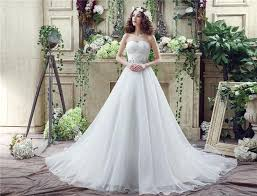 simple style oraganza white wedding dresses 2016 beads sash