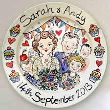 personalized ceramic wedding plates painted personalised tiles tile murals plates mugs