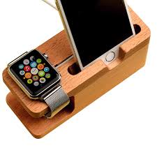 Phone Charging Stand by Wood Bamboo Charging Dock Station Charger Stand Holder For Apple