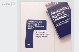 cards against humanity expansion pack if you re a horrible ad person you ll this cards against