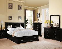 Bed Sets Black Acme Black Bedroom Set Louis Philippe Iii Ac24390set