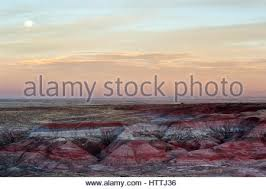 colorful sandstone of painted desert in petrified forest national