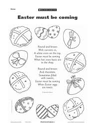 free easter poems easter activity sheets for preschool easter themed poem is
