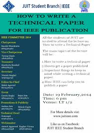 how to write a technical paper juit ieee student branch google
