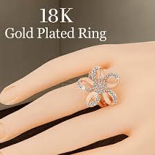 big rings designs images Maryams 18k gold plated big elegant crystal stone flower shape png