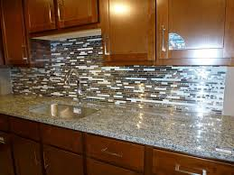 Brown Subway Travertine Backsplash Brown Cabinet by Glass Tile Backsplash Subway Pattern For Kitchen Picture Mosaic
