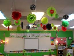 sophisticated hanging ceiling decorations together with classroom