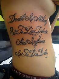 meaningful quote tattoos designs about