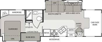 Motorhome Floor Plans Class C Motorhome Floorplans Rv Rentals San Antonio