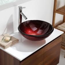 kraus cgv69219mm1007ch 16 1 2 inch charon glass vessel sink