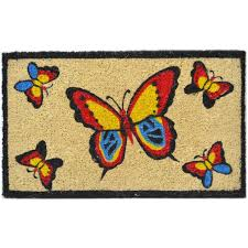 Tag Doormats Trafficmaster Scroll Diamond 24 In X 36 Coir And Rubber Door Good