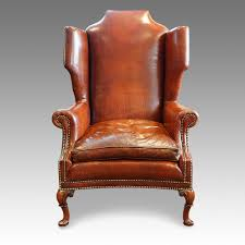 Queen Anne Style by Queen Anne Style Leather Wing Chair Now Sold Hingstons Antiques