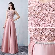party frocks beautiful party dresses 2016 square neckline applique lace pink