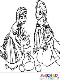 elsa anna olaf frozen coloring pages