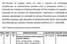 """Basta Edital de Prefeitura pede caixões tamanho """"gordo, baleia  #LM48"""