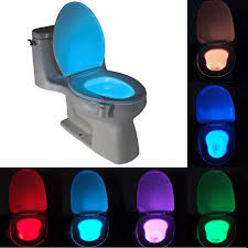 sensor toilet light 8 colors led battery operated lamp lamparas