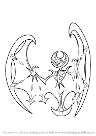 how to draw coloring pages learn how to draw lunala from pokemon sun and moon pokémon sun
