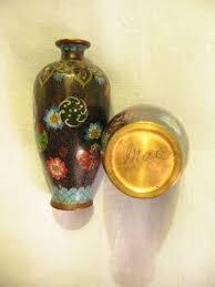 Vintage Vases For Sale Cloisonne Vases With Chrysanthemum Mid Century Japanese Pair On