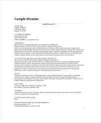 Sample Resume For Bookkeeper by Bookkeeper Resume Template 5 Free Word Pdf Documents Download