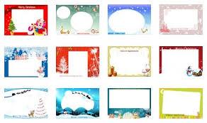 small christmas card template template idea