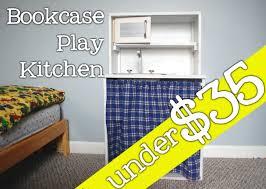 diy bookcase play kitchen imagine