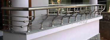 Stainless Steel Stairs Design Stainless Steel Staircase Handrail Design In Kerala 5 Best