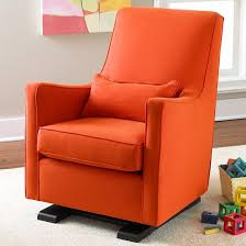 Nursery Chair And Ottoman The Land Of Nod Nursery Gliders Orange Upholstered Monte Luca