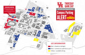 University Of Arkansas Campus Map Campus Parking On Game Day University Of Houston