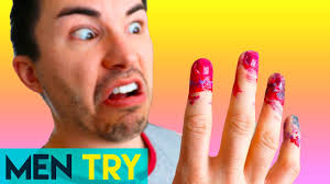 men try nail art water marbling nails diy youtube