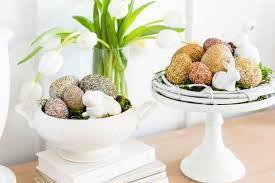 Easter Decorations Pottery Barn by Pottery Barn Inspired Glitter Easter Eggs The Home I Create
